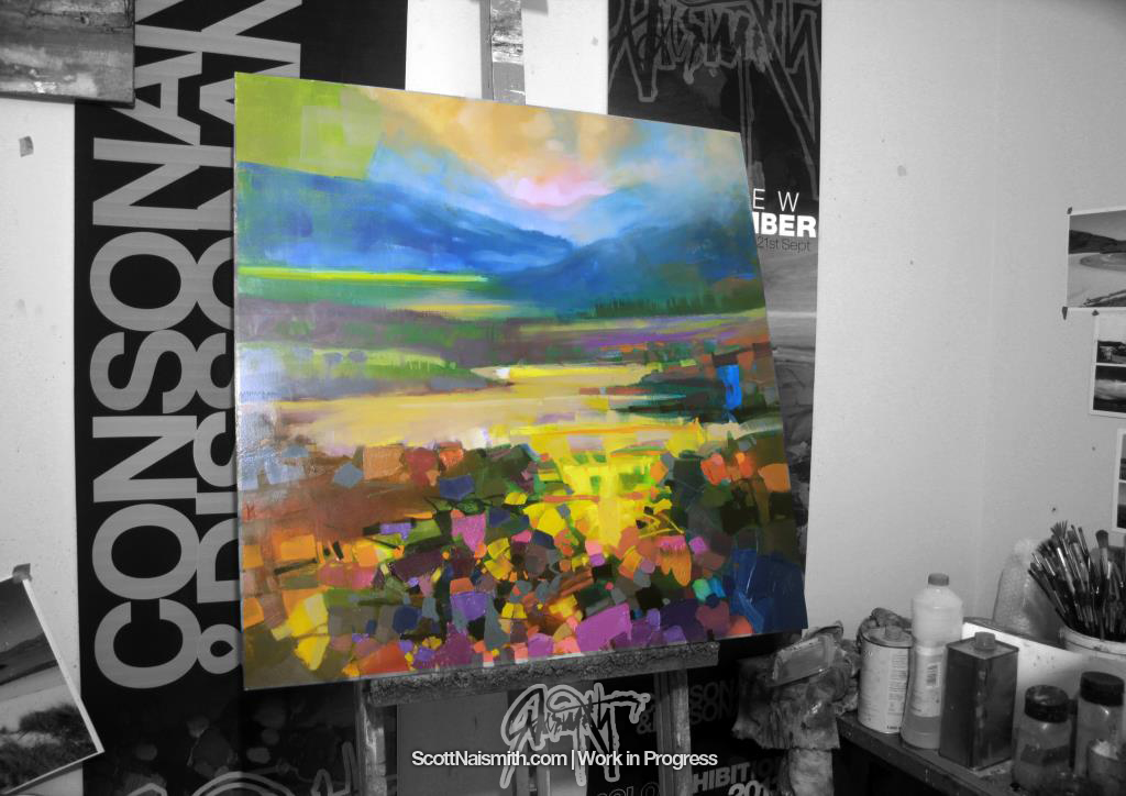 80cm oil on aluminium WIP by Scott Naismith