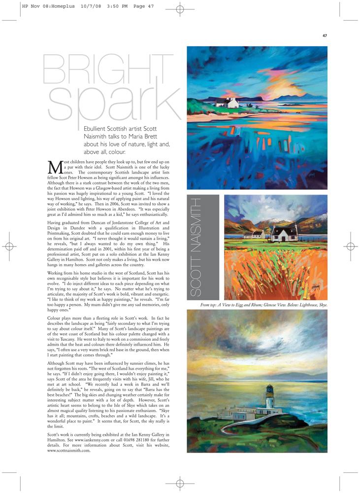 Scott Naismith in Homes |Plus Magazine 2008