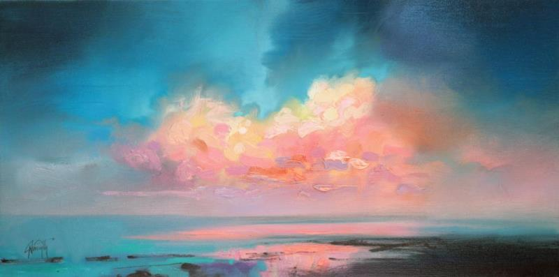 Atlantic Cumulus skyscape painting by Scott Naismith
