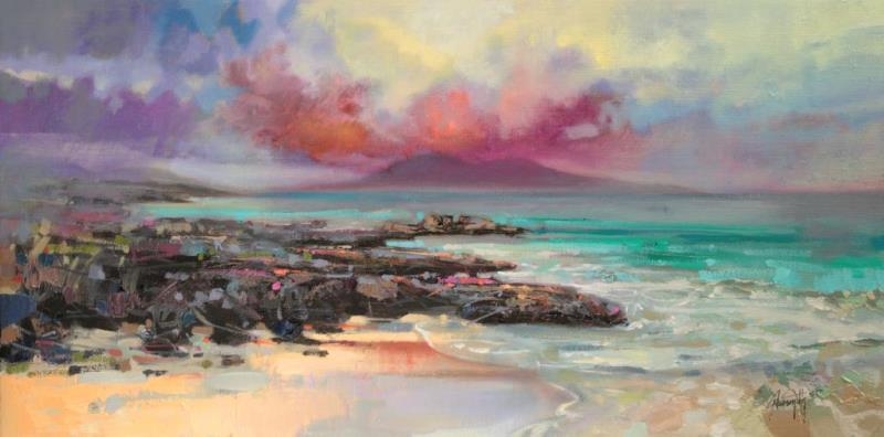 Harris Rocks original hebrides painting by Scott Naismith