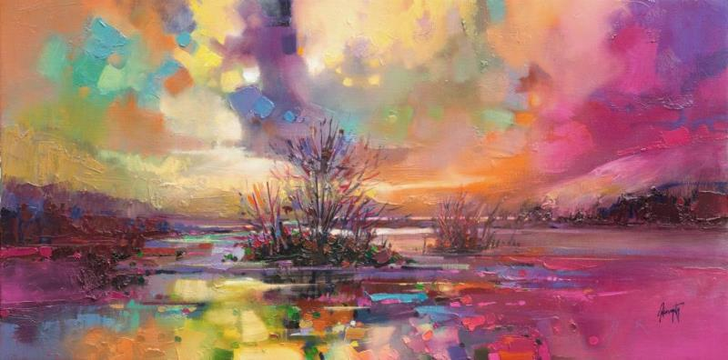 Loch Fyne Colour original abstract landscape painting by Scott Naismith