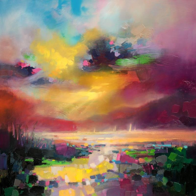 Sunset scott naismith for Abstract nature painting