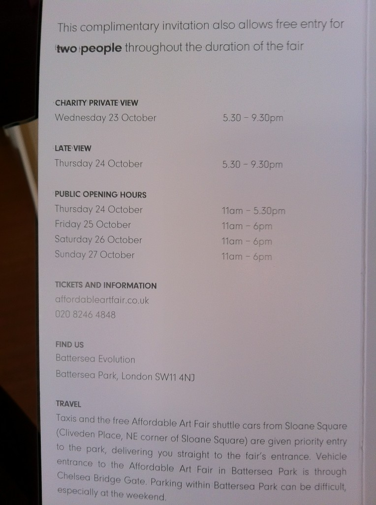 AAF London opening times