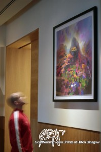 Glencoe print at Hilton Galsgow