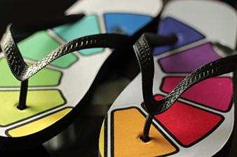 CMY Colour Wheel FlipFlops
