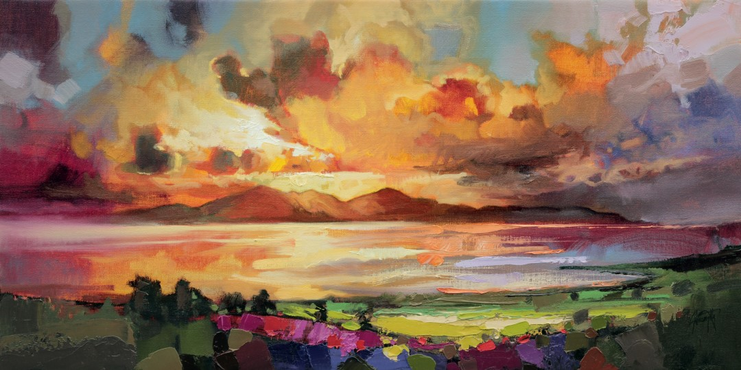 Arran Optimism oil painting by Scott Naismith