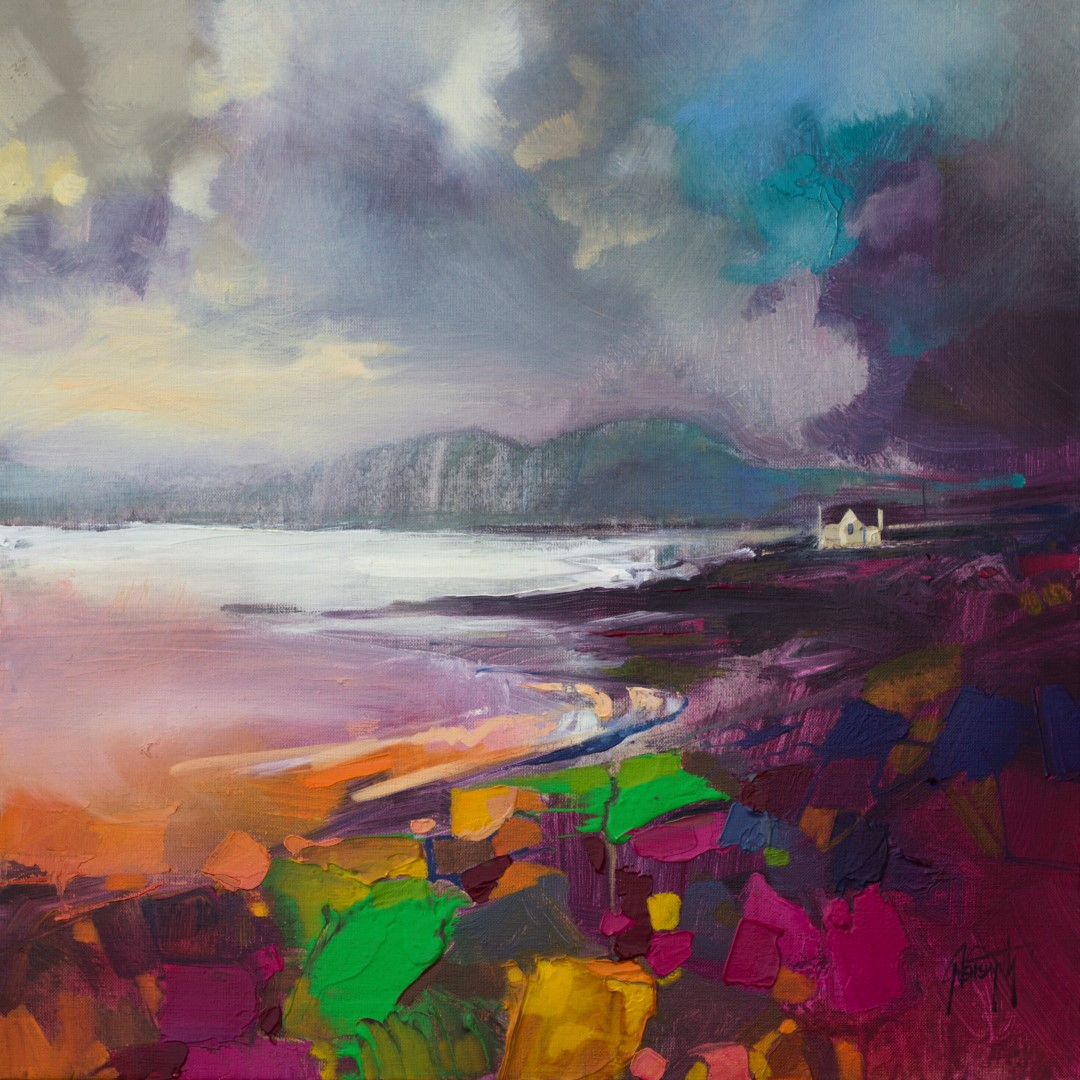 Broadford Shore Scottish landscape painting by Scott Naismith