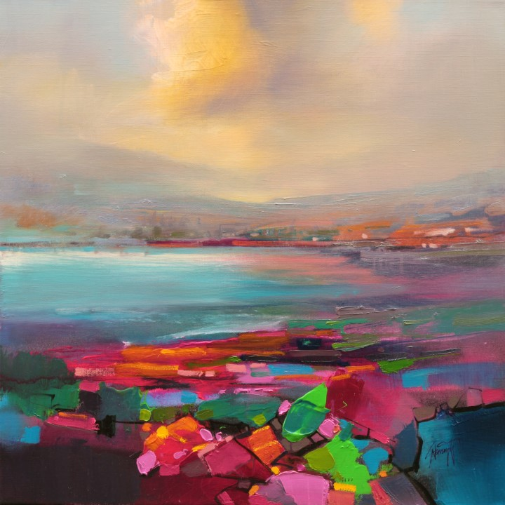 Optimism 3 semi-abstract landscape painting by Scott Naismith