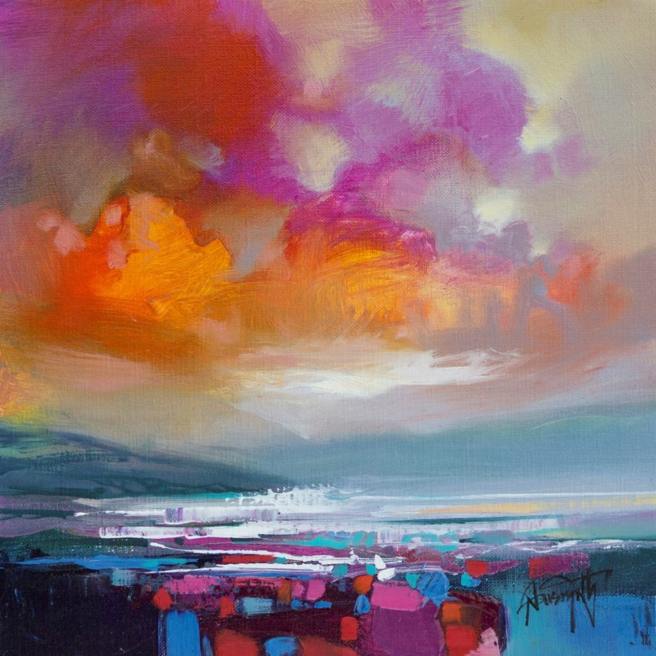 Magenta Sky Study 2 by Scott Naismith - Limited Edition Paper Print
