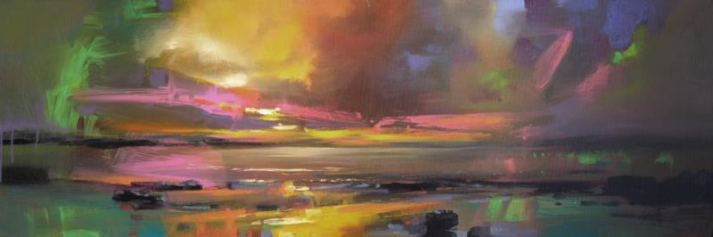 Electric Sky Abstract Skyscape Painting by Scott Naismith