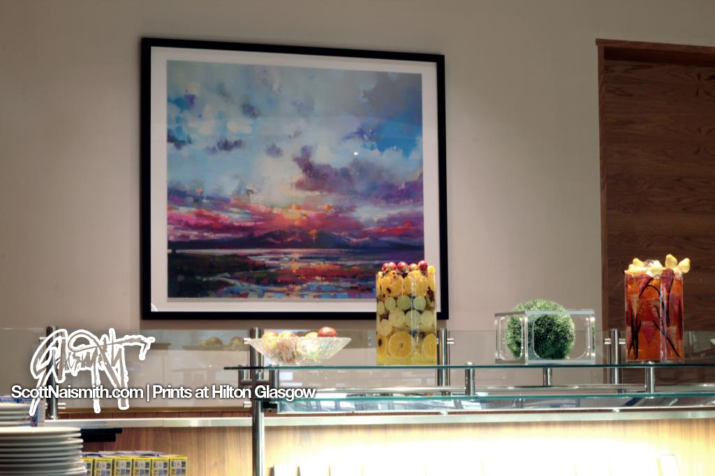 Arran Sky Print with artist Scott Naismith at Hilton Glasgow