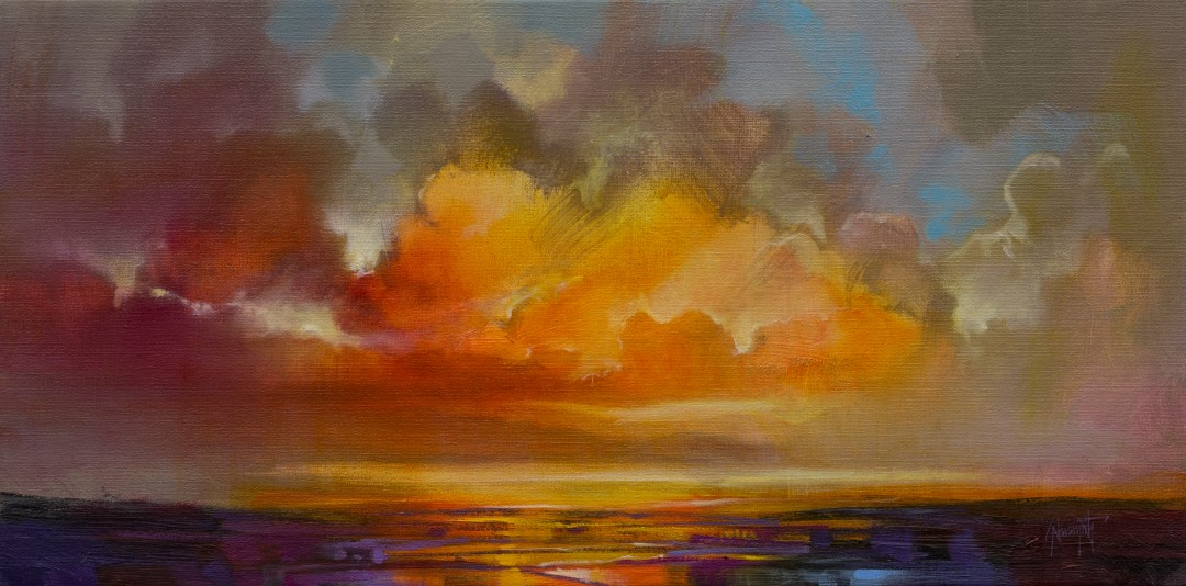 A new Dawn skyscape painting by Scott Naismith