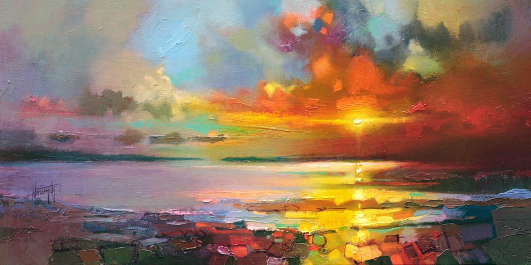 Legato Shore sunset painting by Scott Naismith