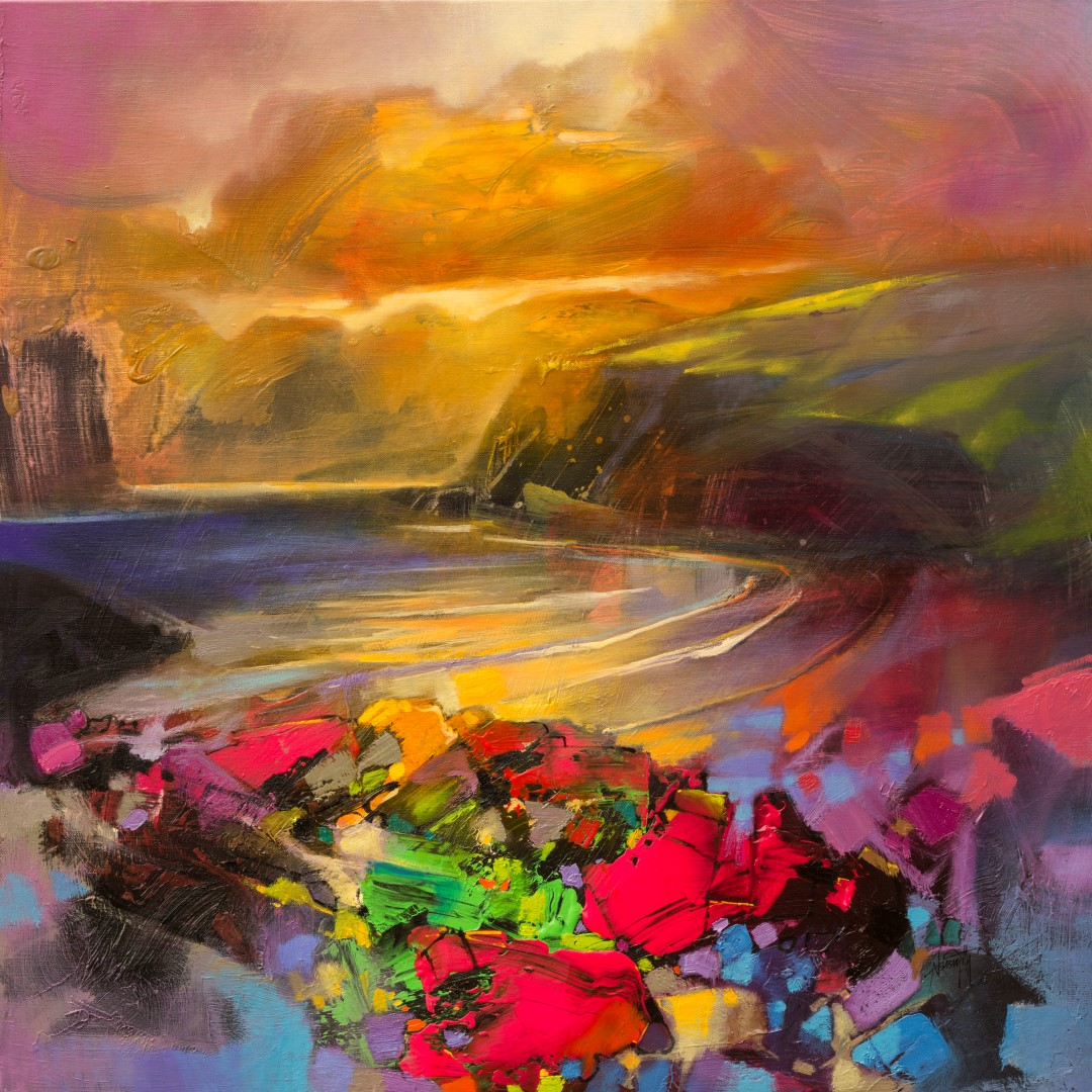 Rocks Dissolve Semi-abstract landscape painting by Scott Naismith