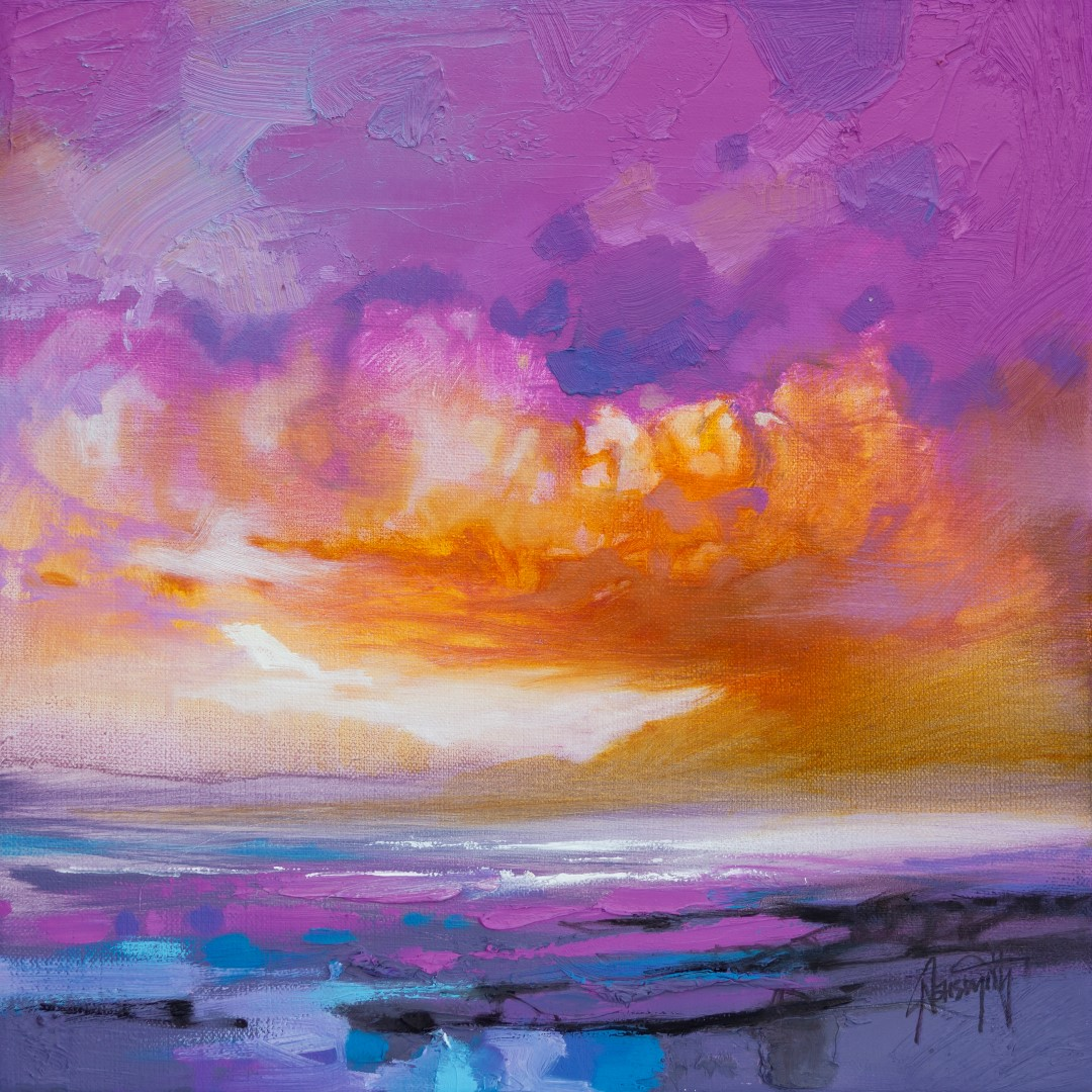 Magenta Sky Study by Scott Naismith - Limited Edition Paper Print