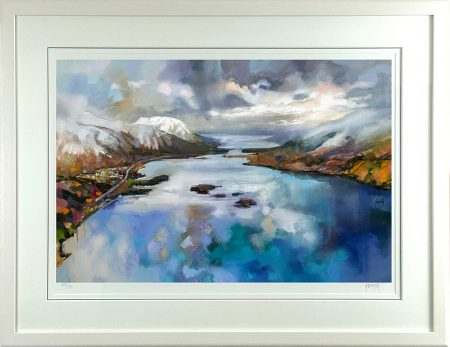 Loch Leven by Scott Naismith framed in white