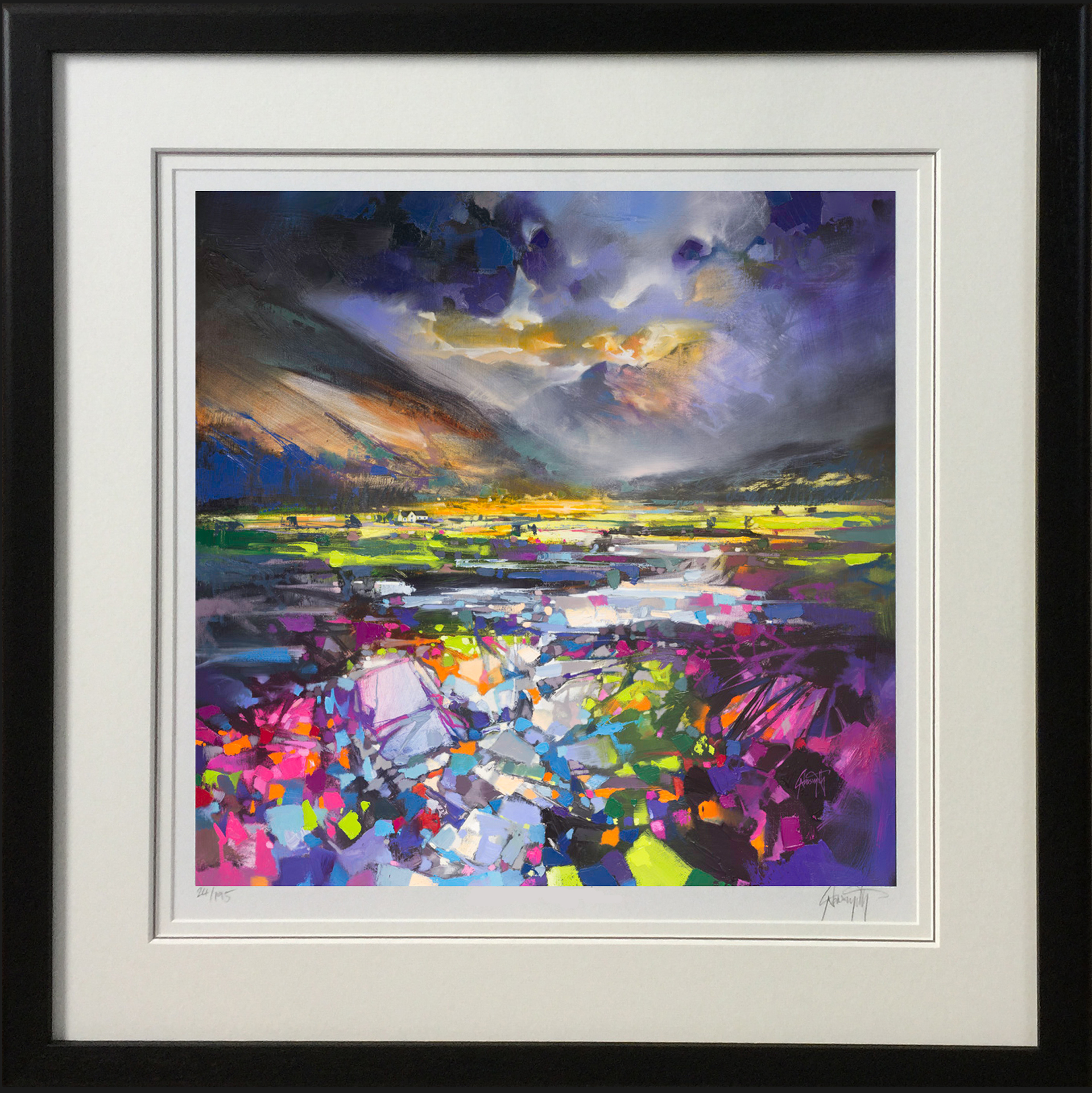 Green Glen by Scott Naismith - framed in black