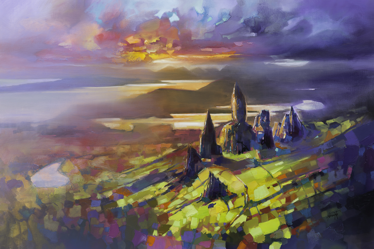 The Storr, 100 x 150cm oil on linen