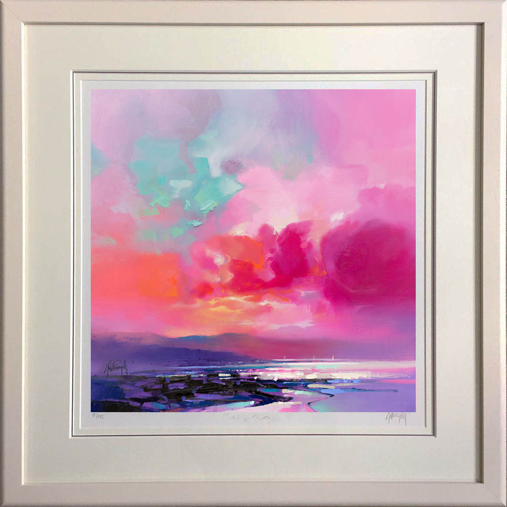 Loch Fyne Sailing by Scott Naismith - framed in black