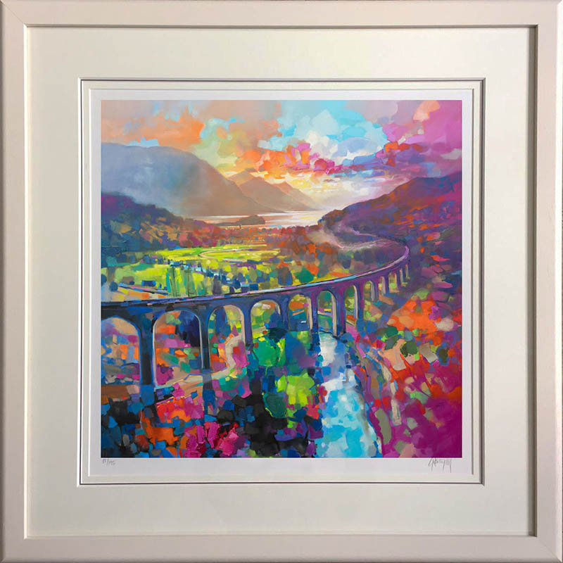 Glenfinnan Viaduct - framed in white