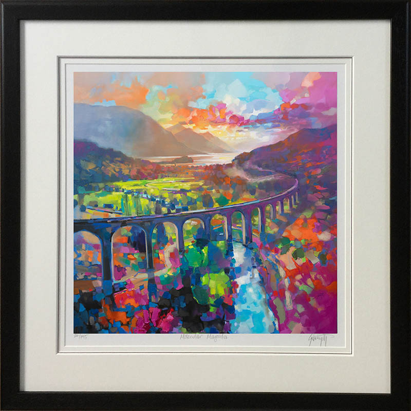 Glenfinnan Viaduct - framed in black