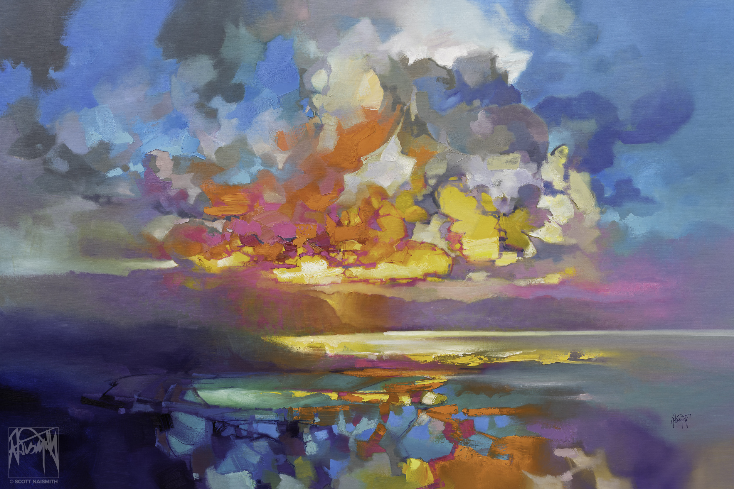 'Taoist Skye' | 120 x 180cm Oil on Linen | by Scott Naismith