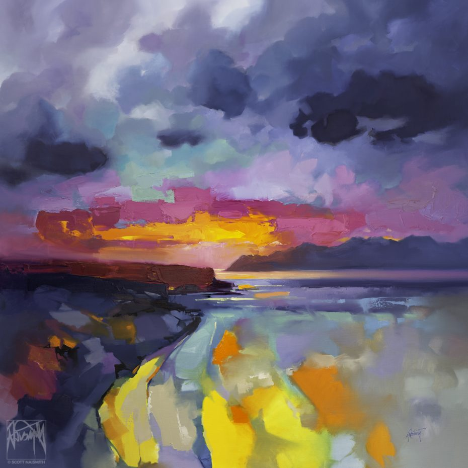 'Euphoria Sunrise' 150 x 150cm original oil on linen by Scott Naismith
