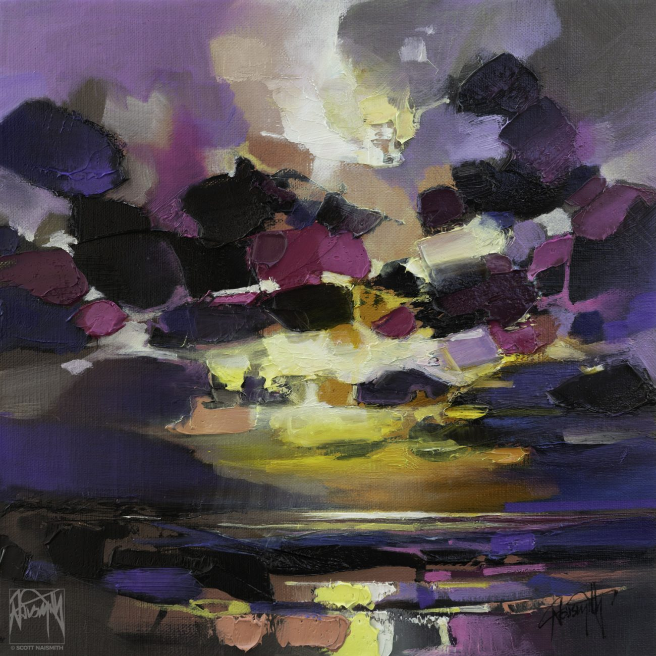 'Dark Matter Study 2' 30 x 30cm oil on linen by Scott Naismith