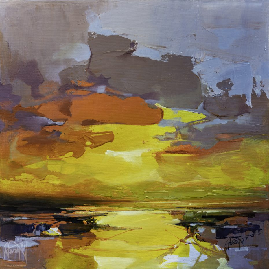 'Clarity in Chaos III' 40 x 40cm original oil on linen by Scott Naismith