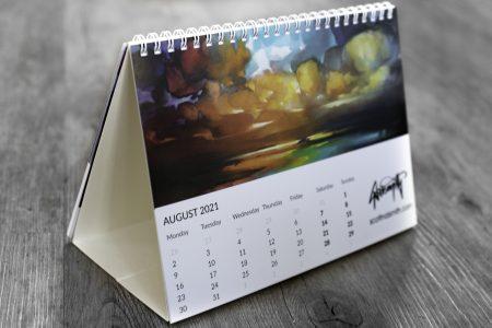 A5 Scott Naismith Desktop Calendar