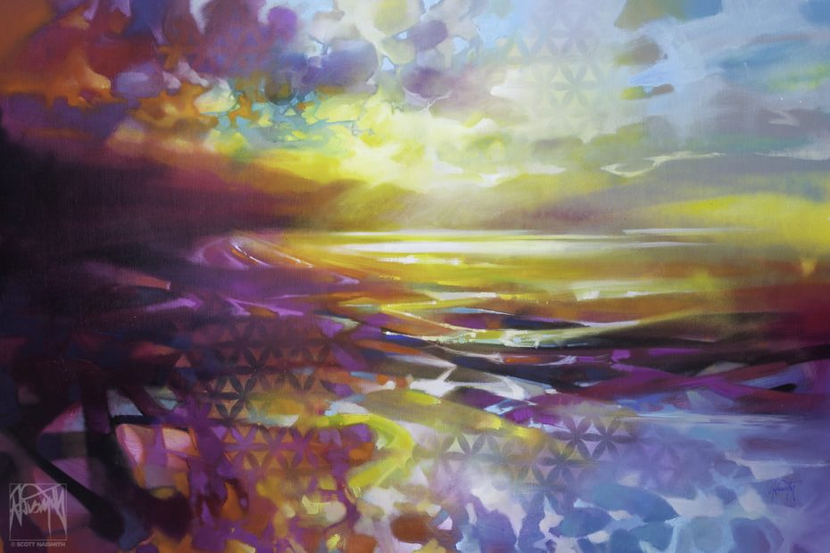 'Loch Creation 3' 80 x 120cm original oil painting by Scott Naismith