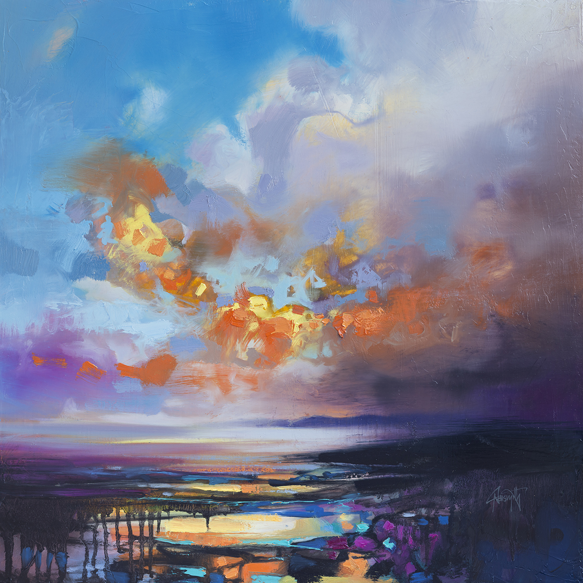 'Light From Darkness 1' | 60 x 60cm original painting